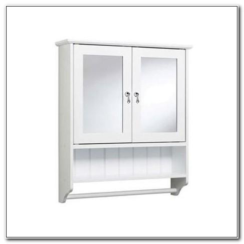 Double Door Mirrored Bathroom Cabinet