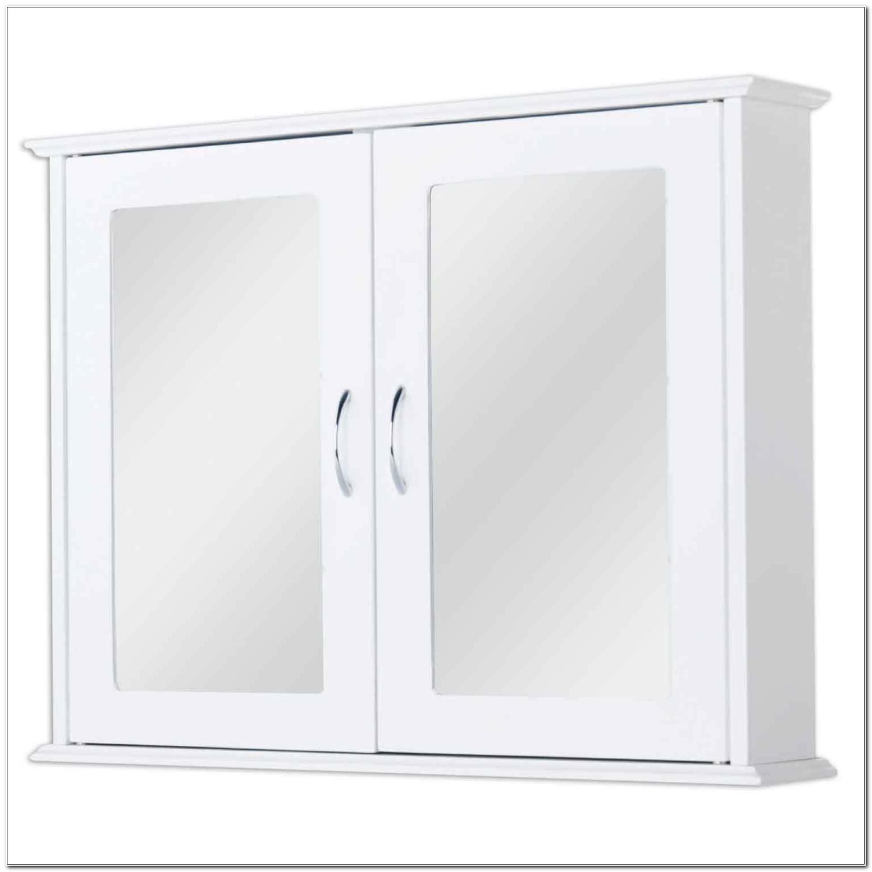 Double Mirrored Bathroom Cabinet White
