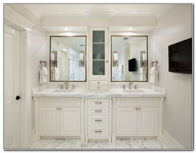 Double Sink Vanity With Cabinet