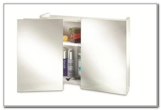 Double Swivel Mirror Door Bathroom Cabinet