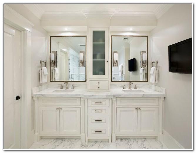 Double Vanity Cabinets Bathroom