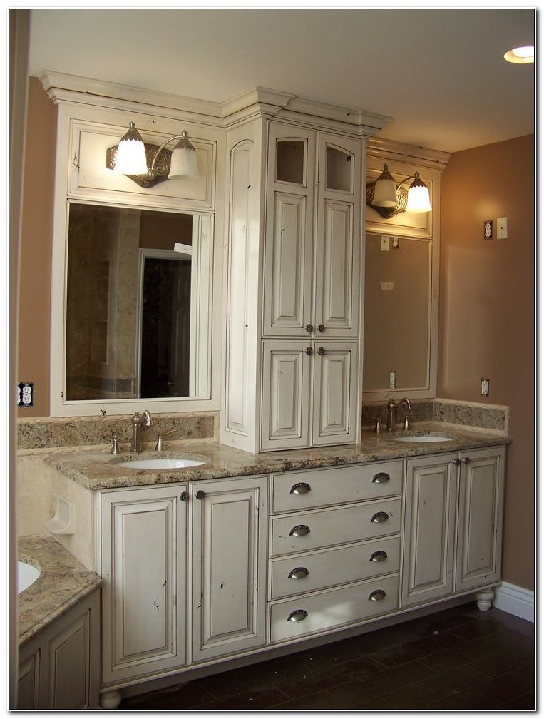 Double Vanity Sink Cabinet Bathroom