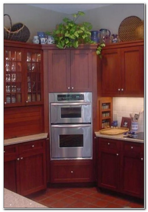 Double Wall Oven Corner Cabinet