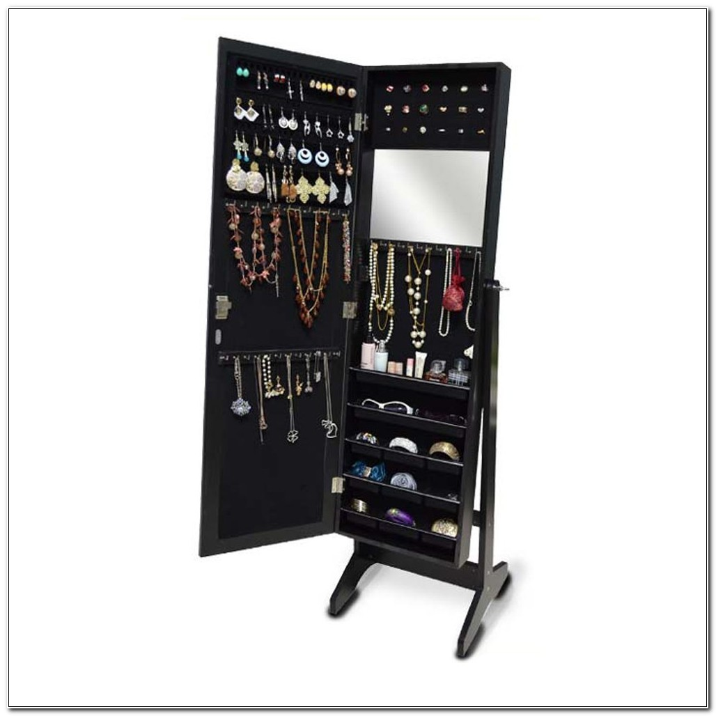Dressing Mirror With Jewelry Cabinet