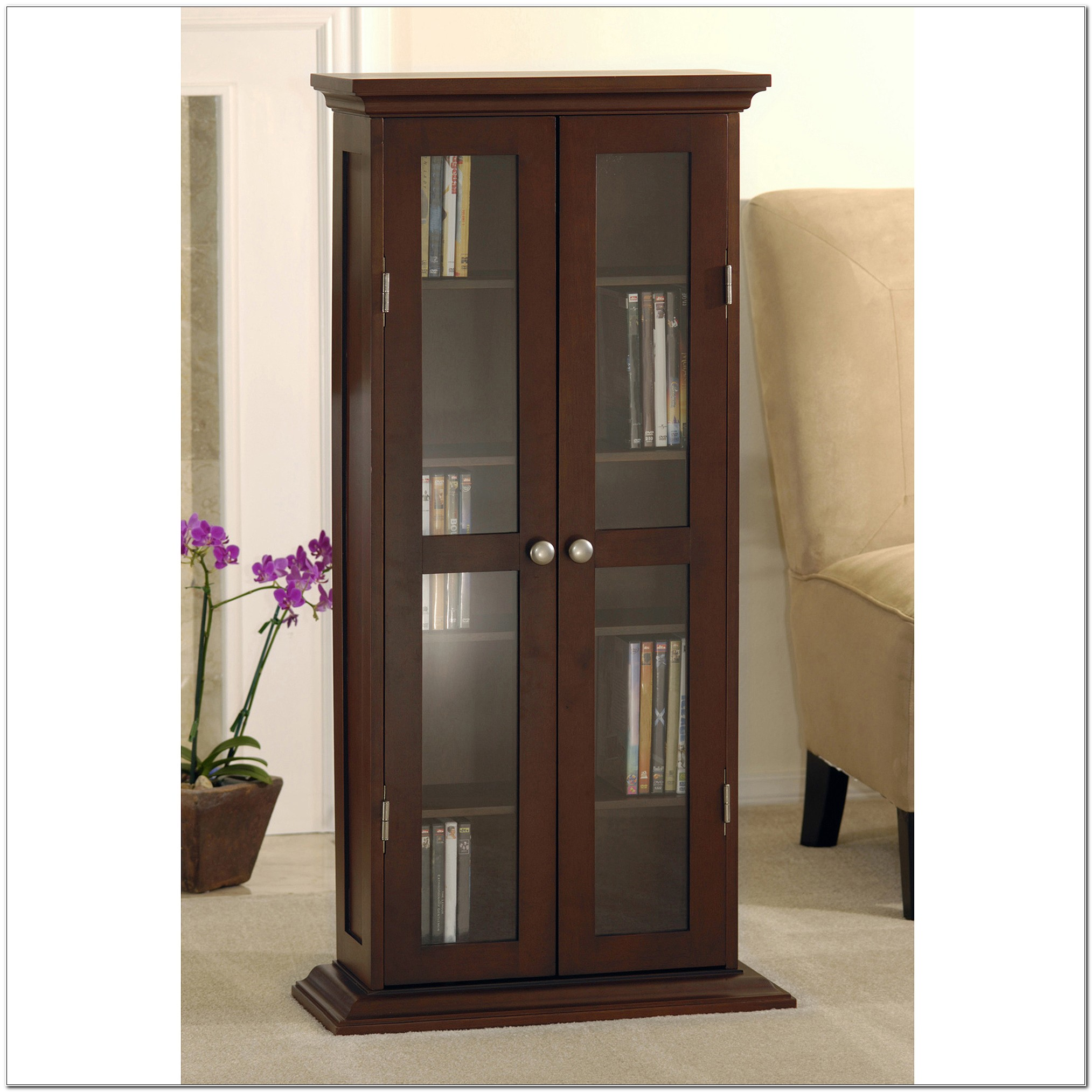 Dvd Cabinet With Doors Walmart