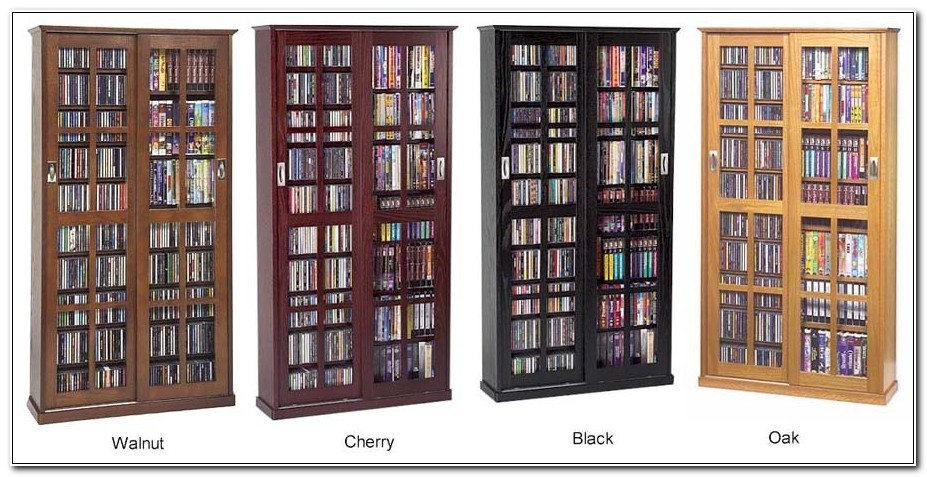 Dvd Storage Cabinet Glass Doors