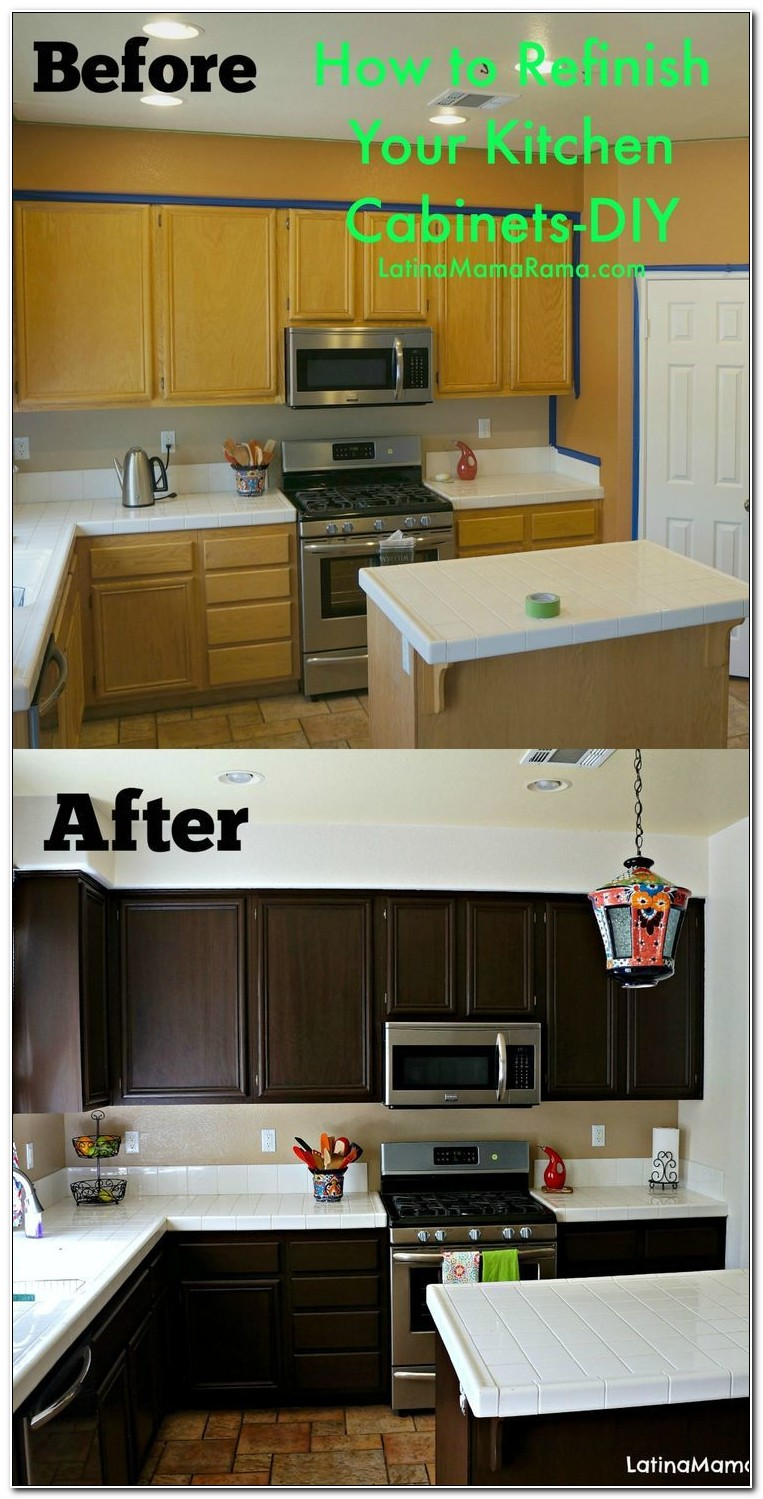 Easy Ways To Refinish Kitchen Cabinets