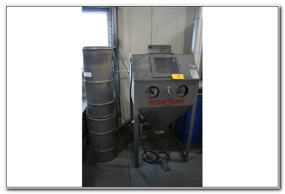 Econoline Bead Blast Cabinet W Dust Collector