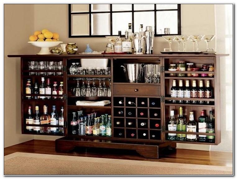 Elegant Design Fold Out Bar Cabinet