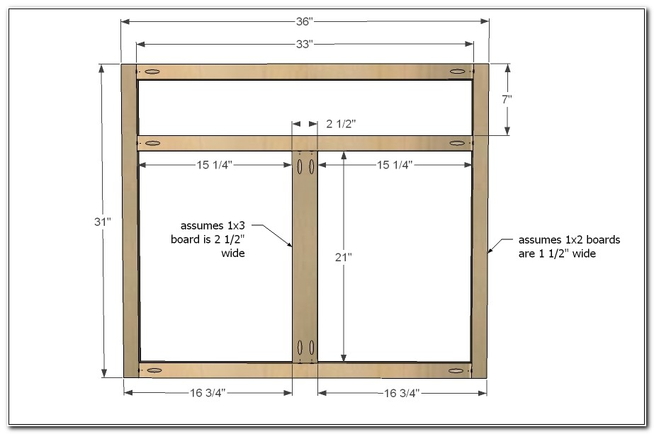 Face Frame Kitchen Cabinet Plans