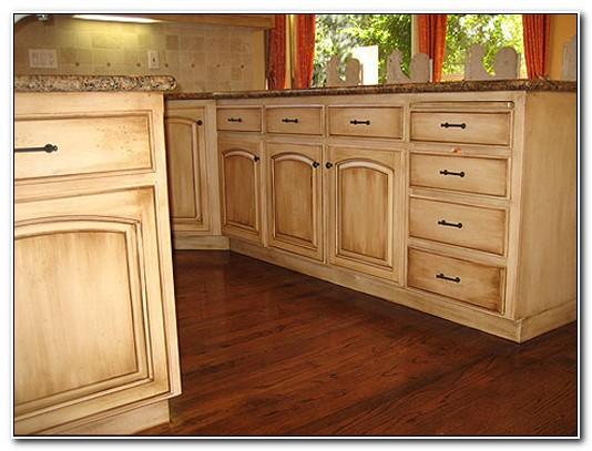 Faux Finish Oak Kitchen Cabinets