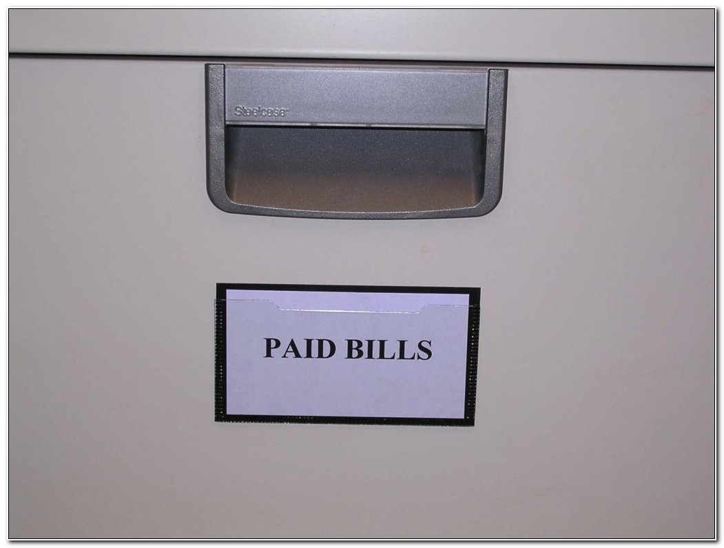 File Cabinet Label Holders Magnetic