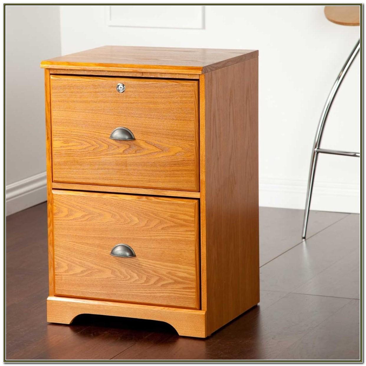 Filing Cabinet Wood 2 Drawer