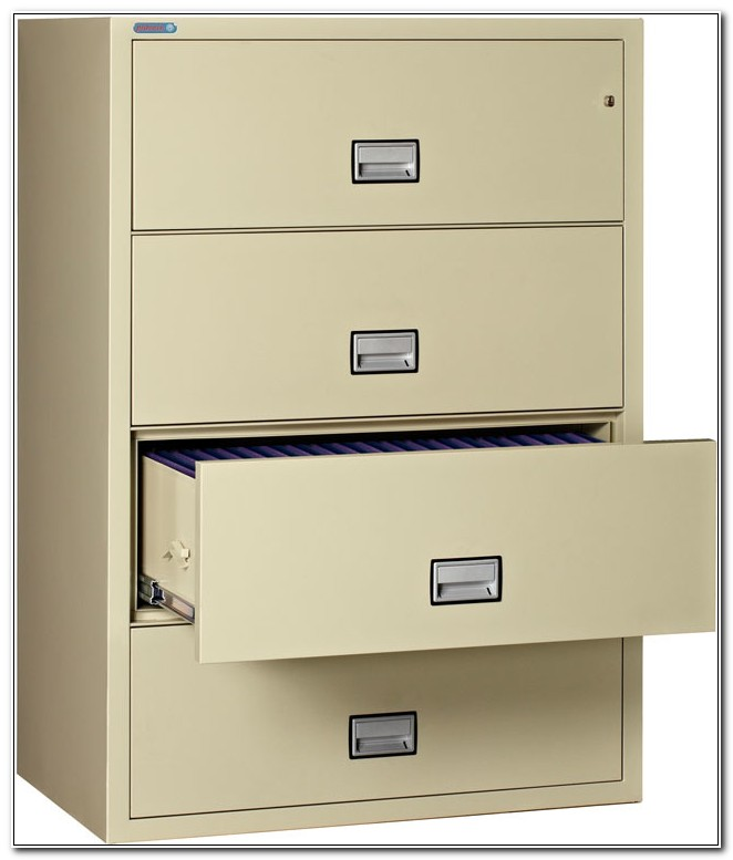 Fireproof 4 Drawer Lateral File Cabinet