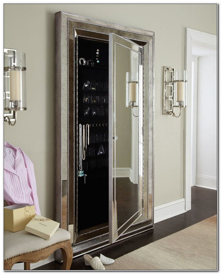 Floor Mirror Jewelry Armoire
