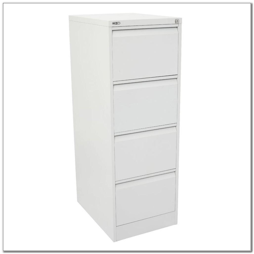 Four Drawer Filing Cabinet White