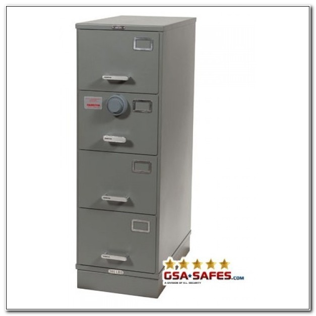 Four Drawer Filing Cabinet With Lock