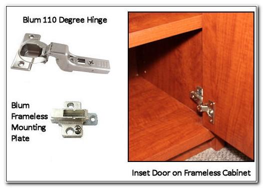 Frameless Inset Cabinet Door Hinges