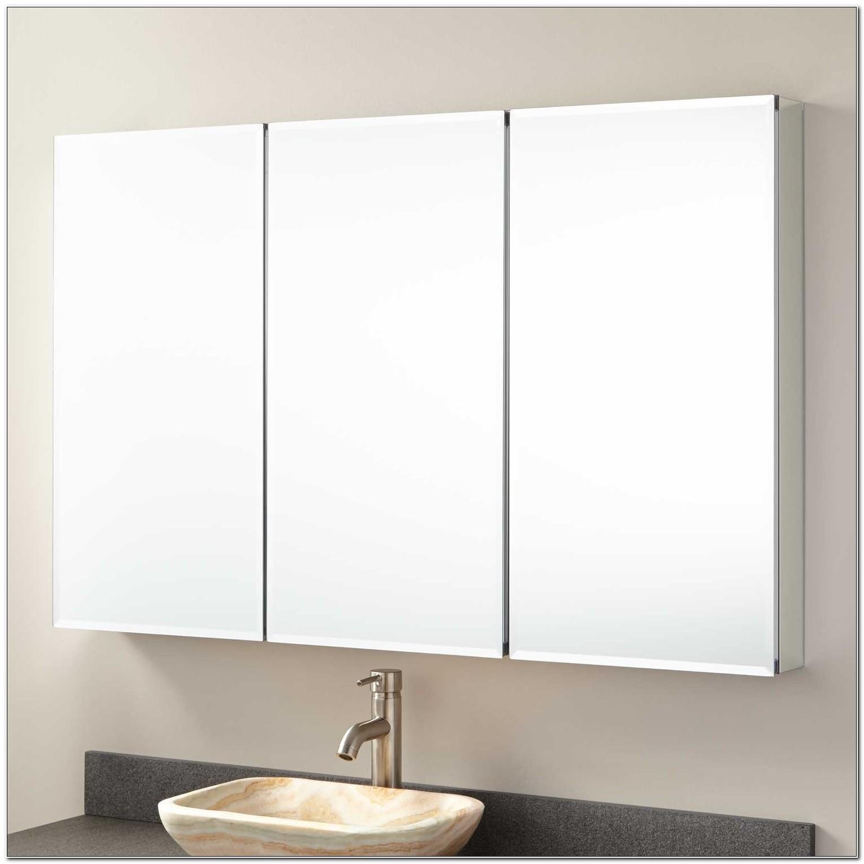 Frameless Mirrored Medicine Cabinet Surface Mount