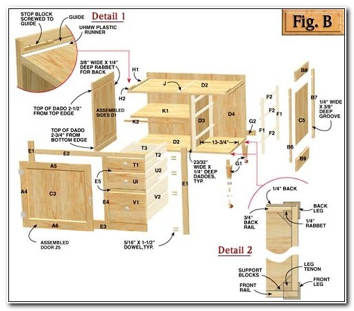 Free Shaker Kitchen Cabinet Plans