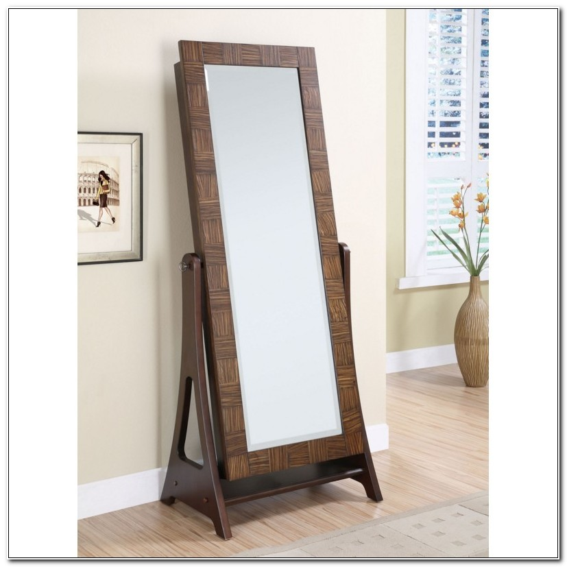 Free Standing Jewelry Cabinet Mirror