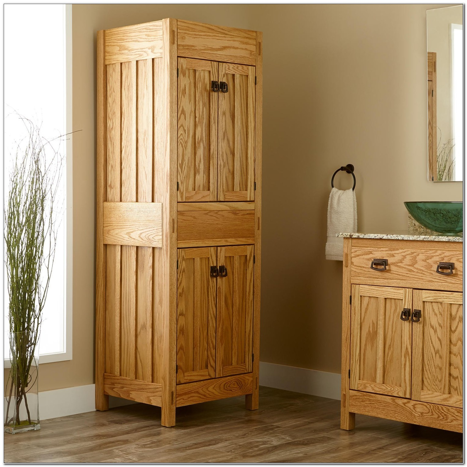 Free Standing Linen Cabinet