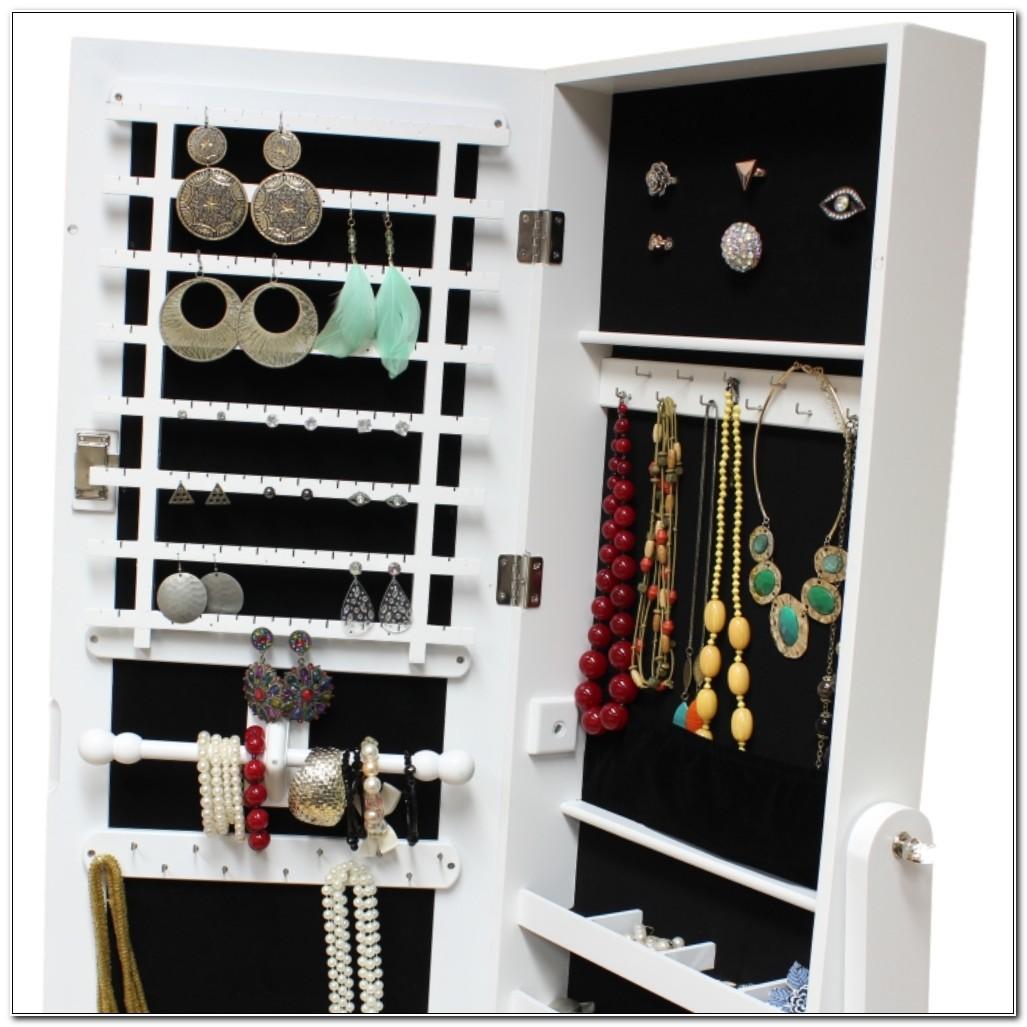 Free Standing Mirrored Jewellery Cabinet Uk