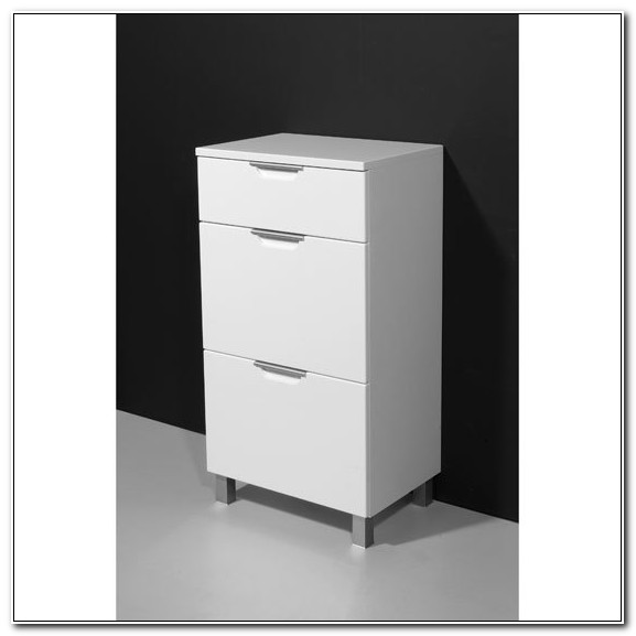 Free Standing White Gloss Bathroom Cabinet
