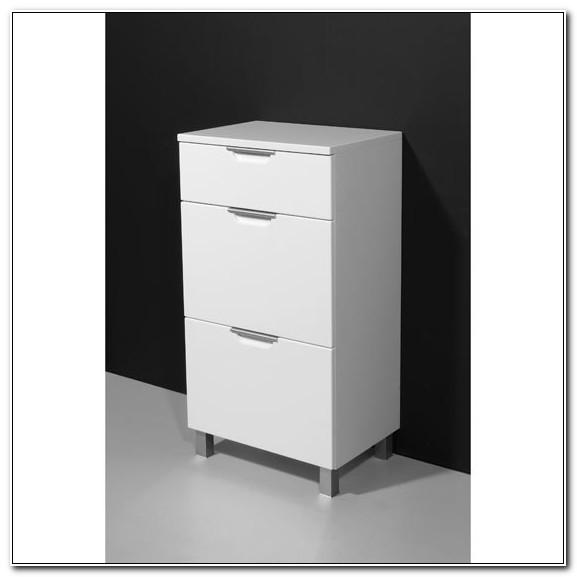 Freestanding Bathroom Cabinet White Gloss