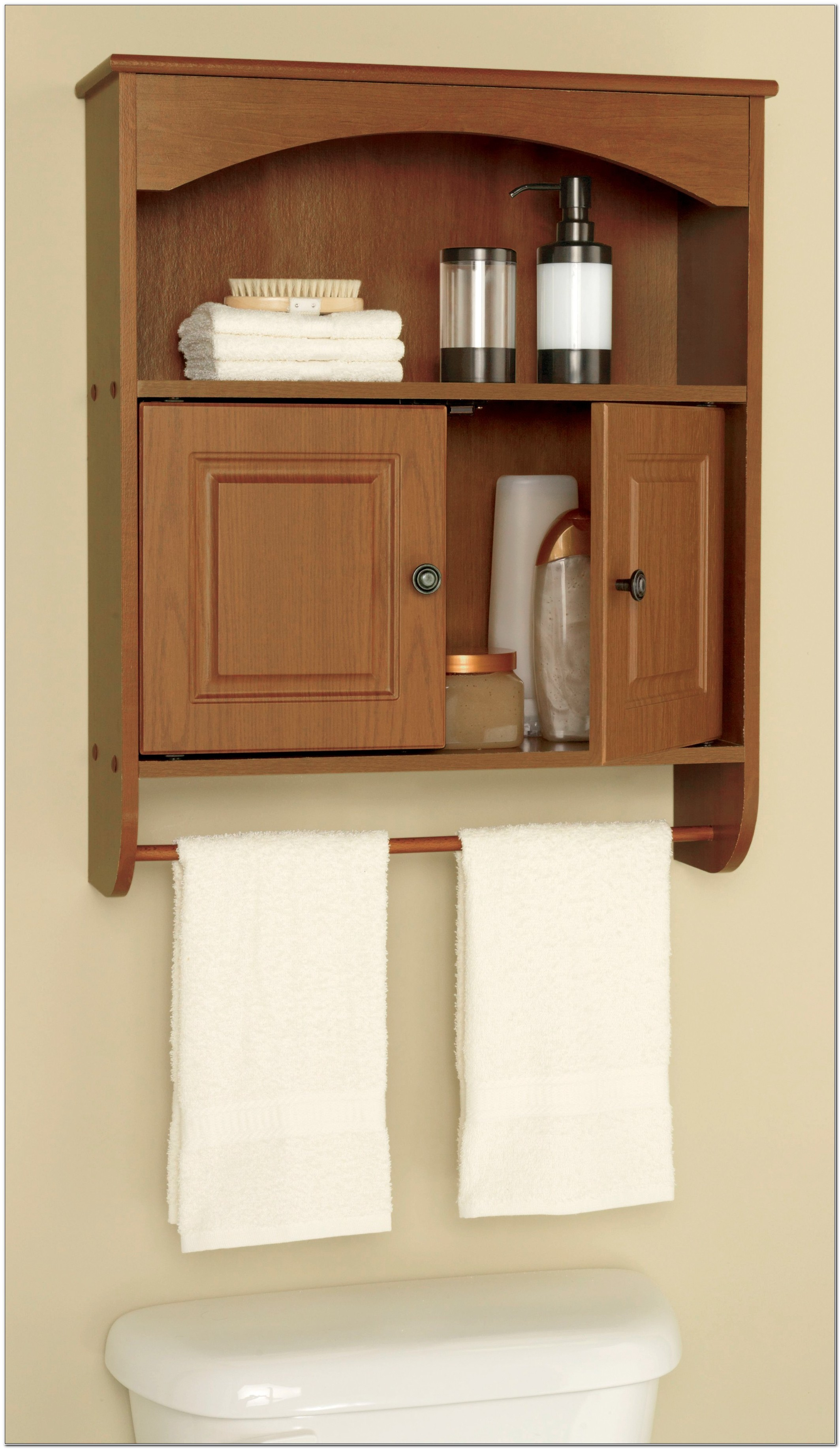 Freestanding Bathroom Cabinet With Towel Rail