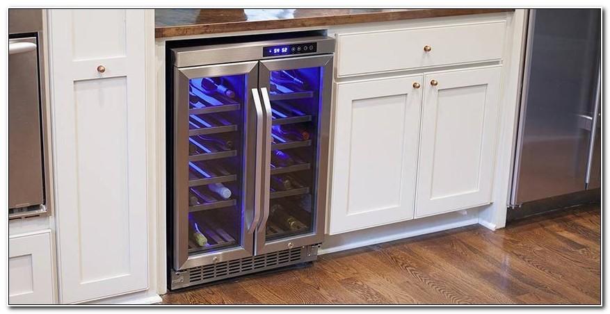 Freestanding Wine Cooler Under Cabinet