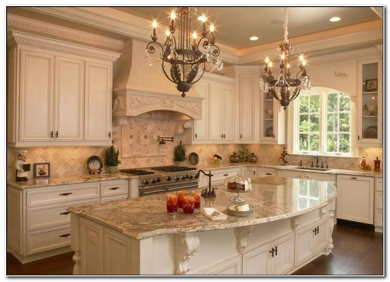 French Country Kitchen Cabinets Paint