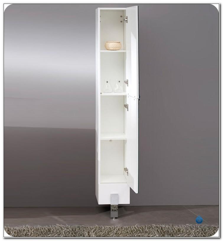 Fresca Adour Mirrored Bathroom Linen Side Cabinet