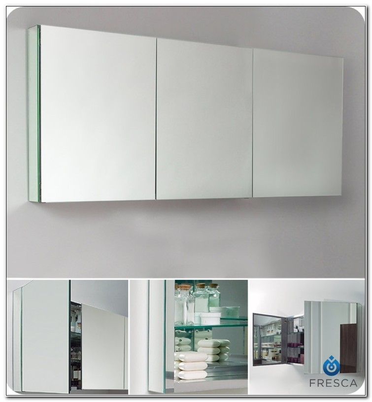 Fresca Large Bathroom Medicine Cabinet With Mirrors