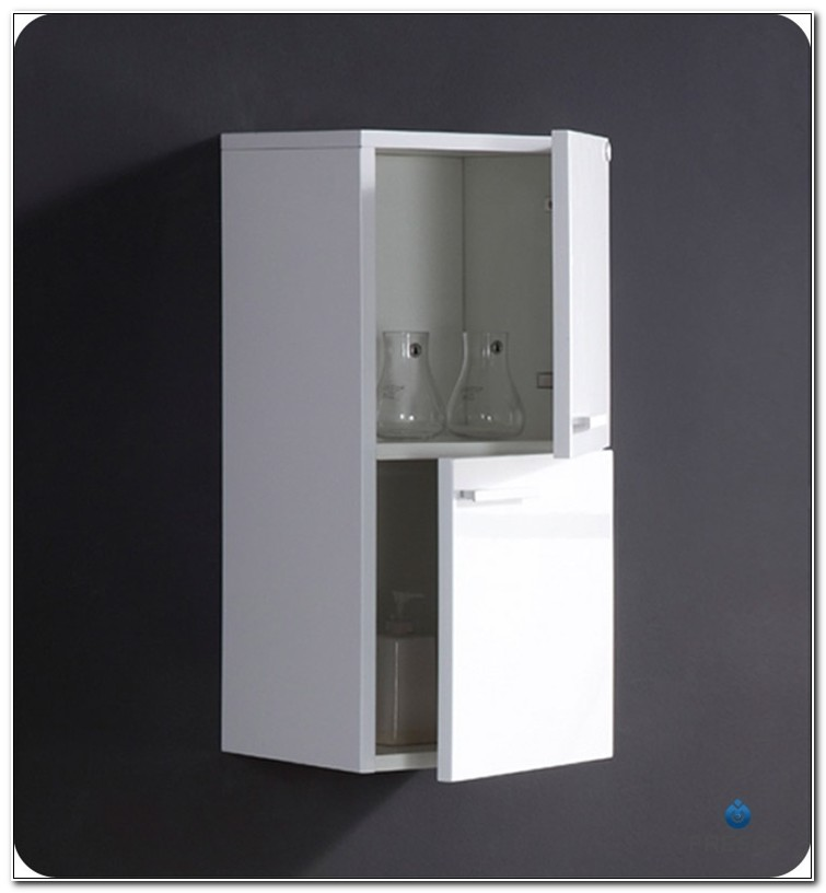 Fresca White Bathroom Linen Side Cabinet