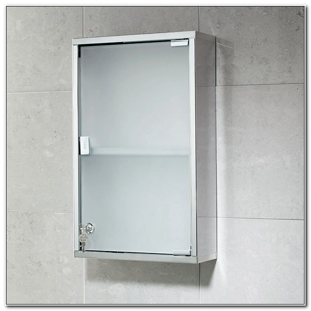 Frosted Glass Bathroom Cabinet