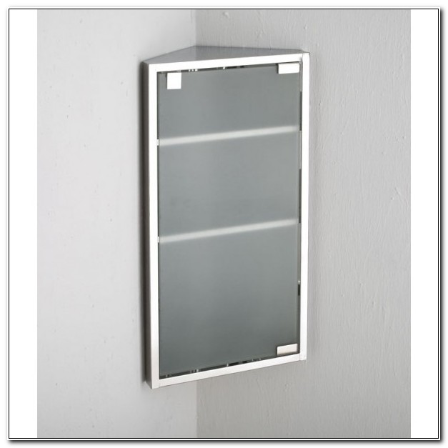 Frosted Glass Corner Bathroom Cabinet