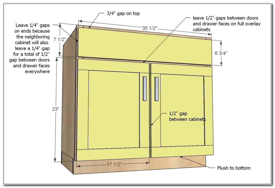 Full Overlay Cabinet Door Sizes