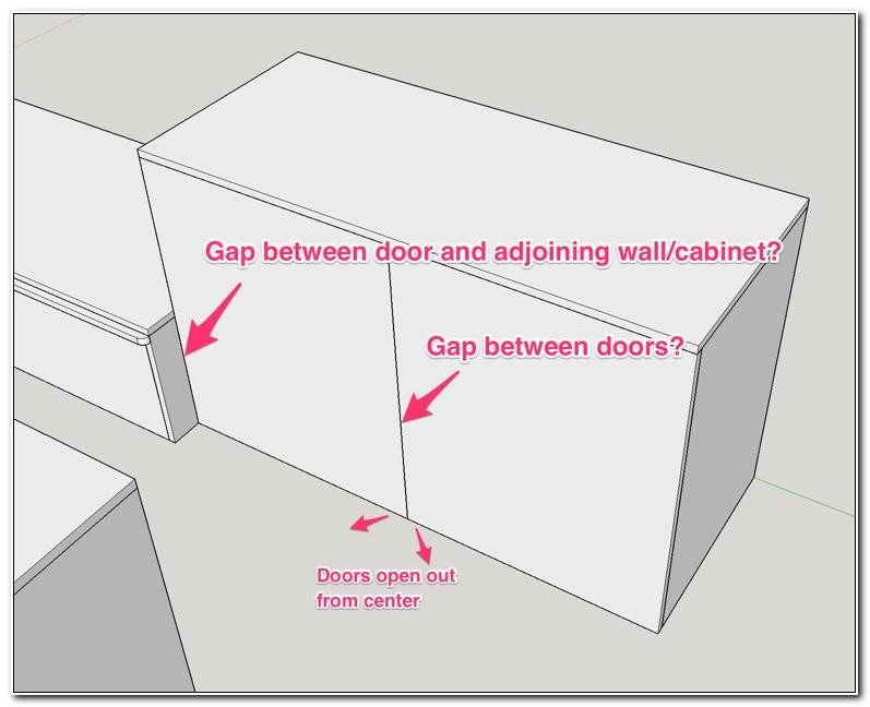 Full Overlay Cabinet Door Spacing