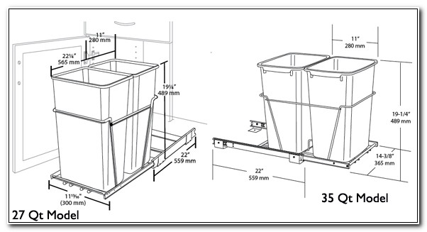 Garbage Pull Out Cabinet Size