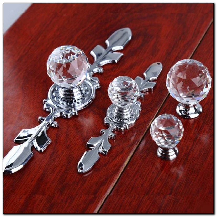 Glass Cabinet Knobs With Backplates