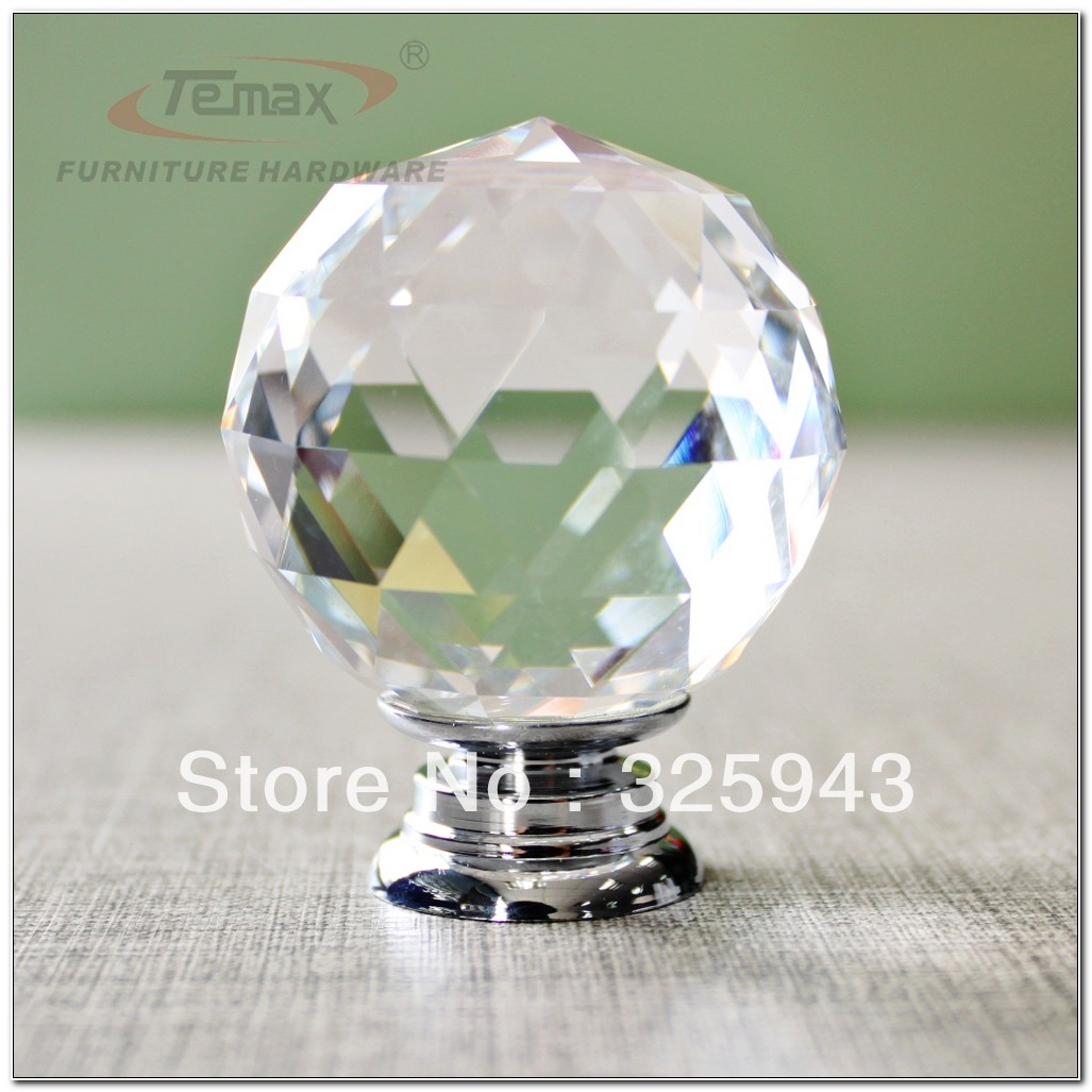 Glass Crystal Cabinet Door Knobs
