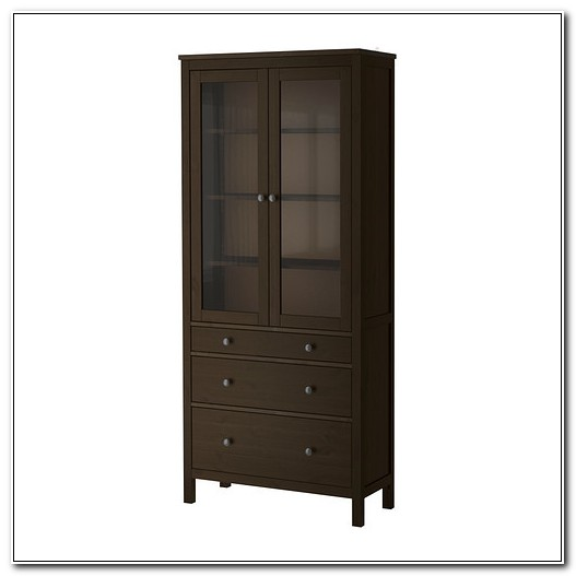Glass Door Cabinet With Drawers