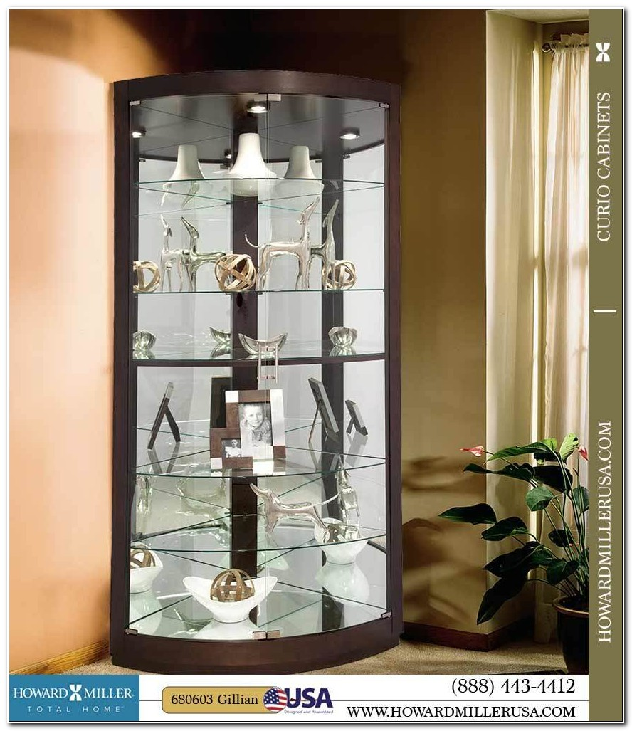 Glass Door Corner Curio Cabinet