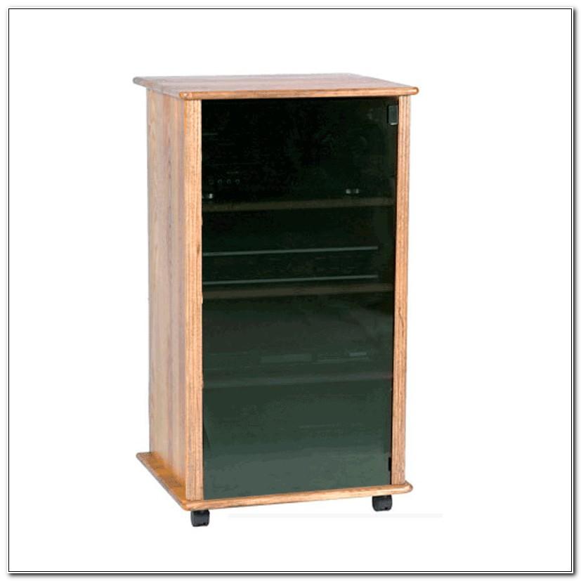 Glass Door Stereo Cabinet