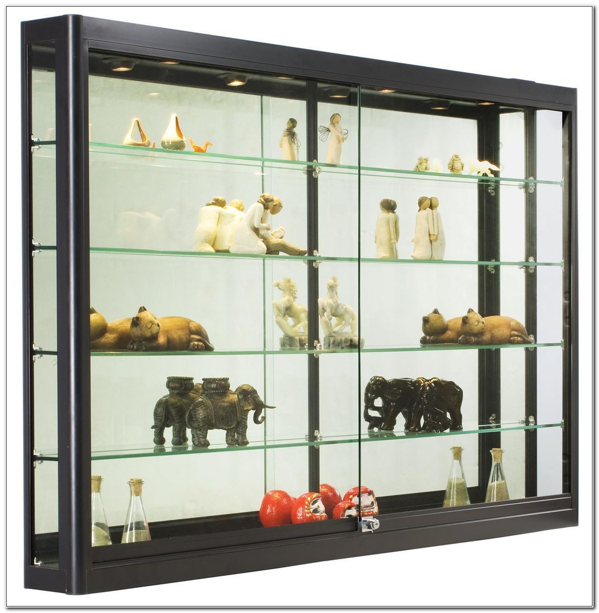 Glass Wall Hanging Curio Cabinets