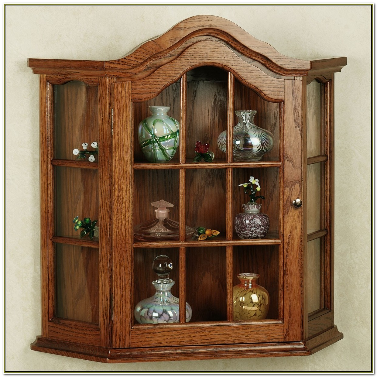 Glass Wall Mounted Curio Cabinets