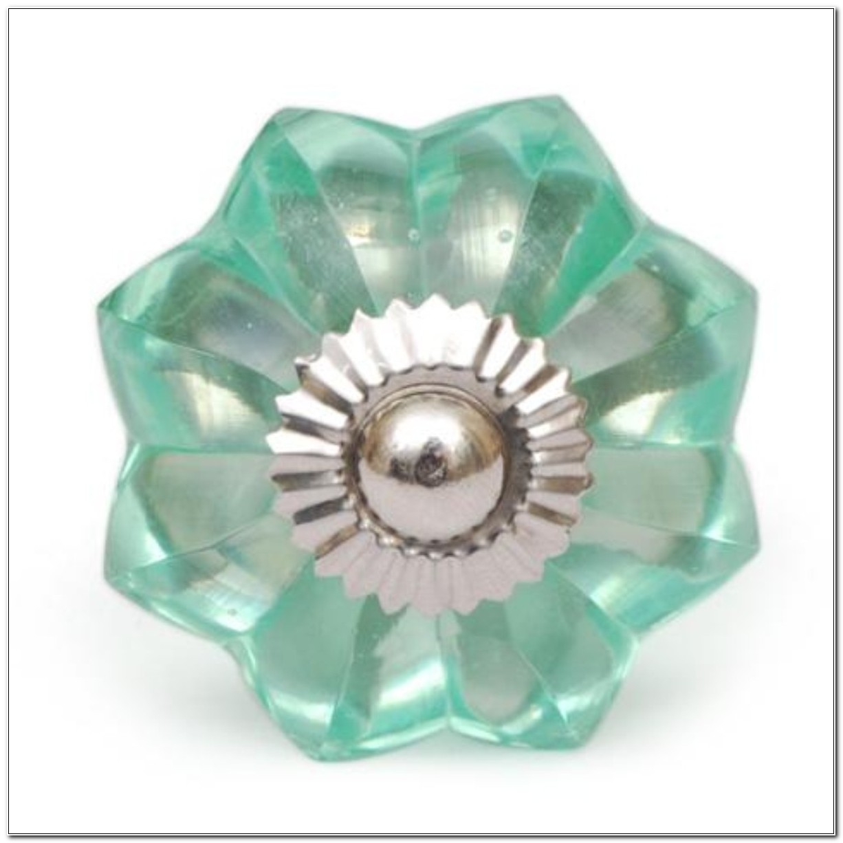 Green Glass Cabinet Door Knobs