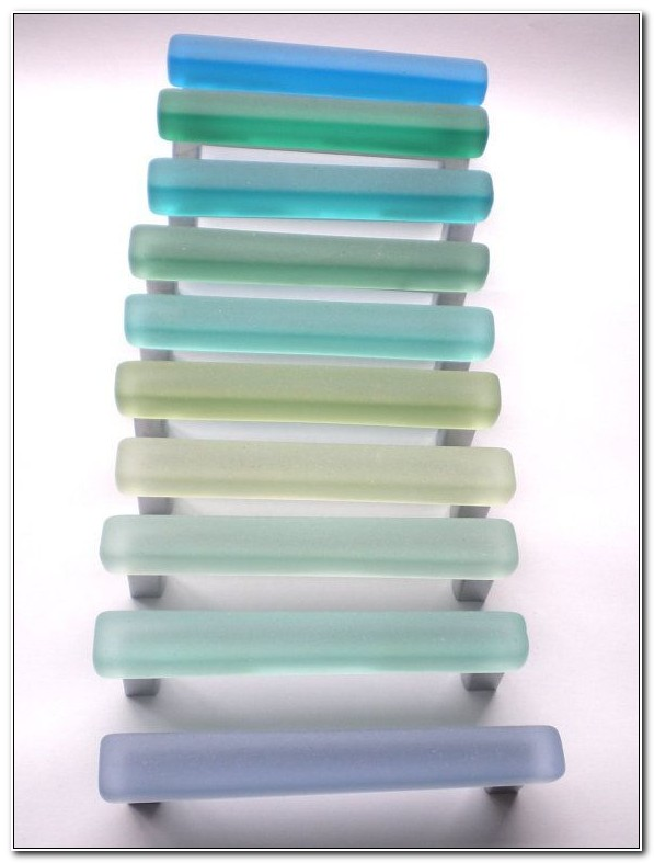 Green Sea Glass Cabinet Knobs