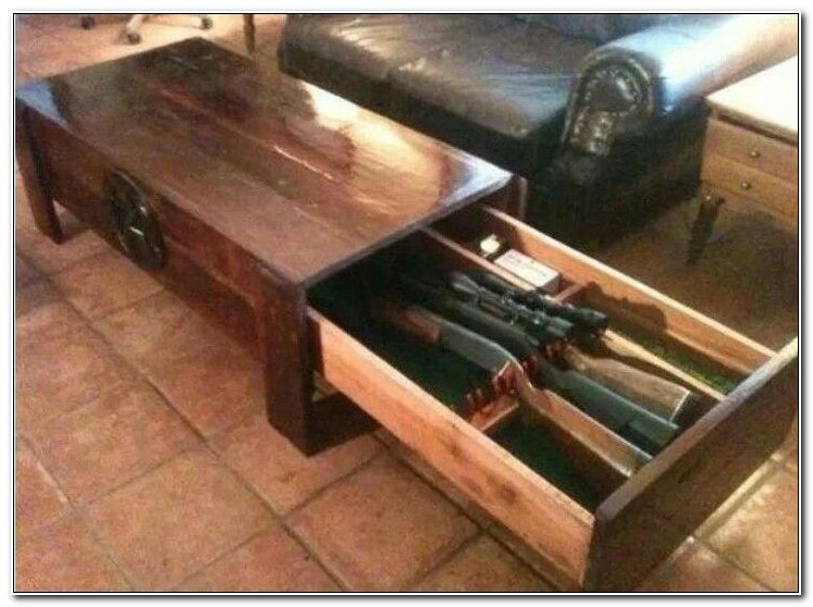 Gun Safe Coffee Table